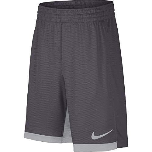 """Nike 8"""" Dry Short Trophy, Dri-FIT Boys' training shorts, Athletic shorts, Dark Grey/Wolf Grey/Wolf Grey, S"""