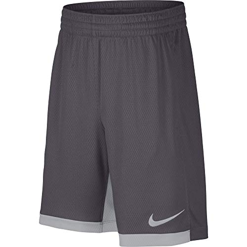 "Price comparison product image Nike 8"" Dry Short Trophy,  Dri-FIT Boys' training shorts,  Athletic shorts,  Dark Grey / Wolf Grey / Wolf Grey,  M"