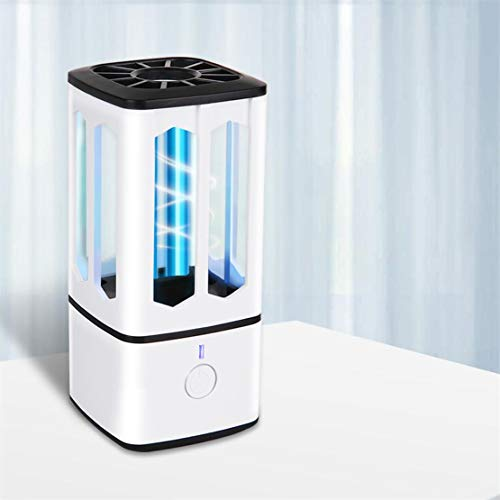 Lampada di Disinfezione UV, Genround Lampada di Sterilizzazione Portatile con Ozono Ultravioletto, Sterilizzazione, Disinfezione e Purificazione Dell'aria per Cucina, Armadi, Auto, Viaggi