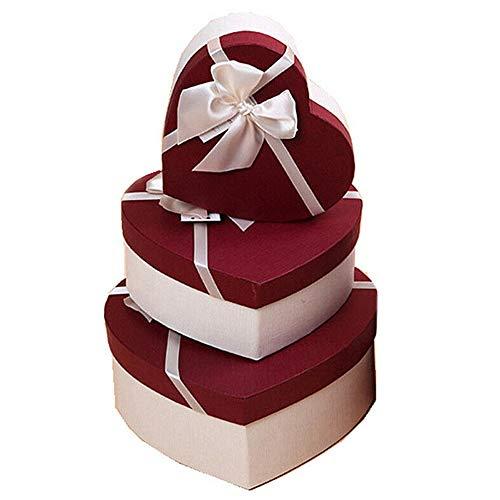 VVU 24pcs 4 * 4 * 3cm Estilo Bowknot Pendiente Pulsera Collar Cajas de Almacenamiento de Joyas Cajas de Regalo Estuches Organizadores (Rojo)