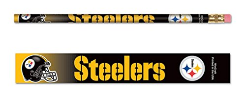 WinCraft NFL Pittsburgh Steelers 15571041 Pencil (6 Pack)