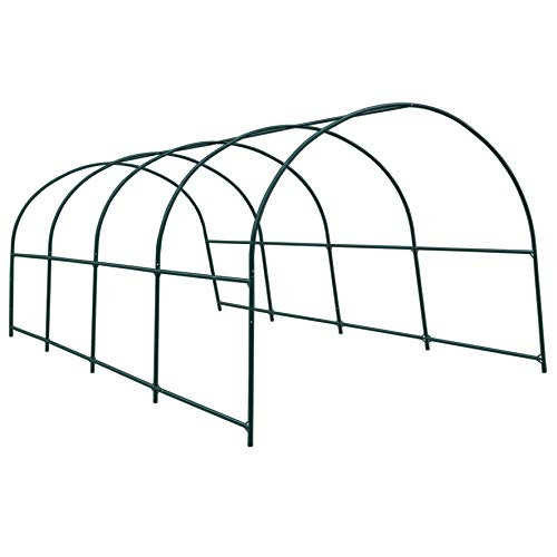 Strong Camel Greenhouse Replacement Frame for 20' X 10' X 7' Larger Hot Garden House, Support Arch Frame Climbing Plants/Flowers/Vegetables (20' X 10' X 7')