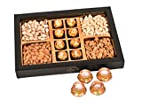 Food Library The Magic of Nature Diwali Ferrero Chocolates & Dry Fruits Gift Hamper with Candles