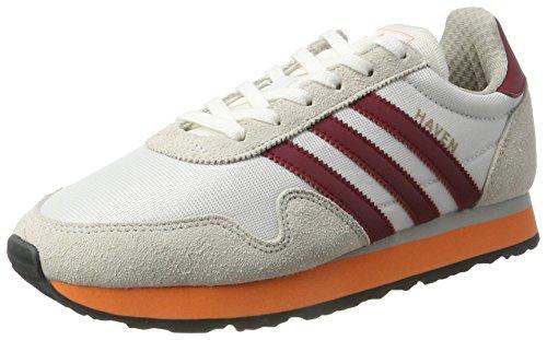 adidas Haven, Zapatillas Hombre, Blanco (FTWR White/Collegiate Burgundy/Easy Orange), 36 EU