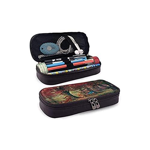 Eey-ore Estuche Bolsa de bolígrafo de gran capacidad Suministros Papelería Caja de maquillaje Bolsa organizadora Doble cremallera Impermeable