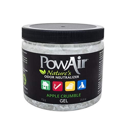 PowAir Gel – Neutralizzatore di odori Professionale agli Oli Essenziali. Rigenera l'Aria negli Ambienti Domestici, rilascia Un gradevole Profumo Apple Crumble per 1000+ Ore | Soluzione in Gel - 1 L