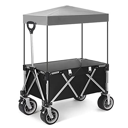 Garden Trolley Draagbare Campingtrolley Met Plafond, Opvouwbare Tuintrolley Voor Huishoudelijk Gebruik, Kan 100 Kg…