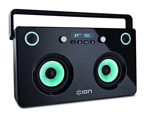 ION Wiederaufladbare Stereo Bluetooth Boombox mit Lautsprecher/Radio bunt