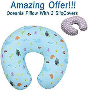 SALE - MyTickles Oceania Nursing Pillow and Positioner (With TWO Slipcovers), Positioning & Support For Breastfeeding Moms & Baby. A Perfect Present / Great Baby Shower Gift!