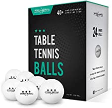 PRO SPIN Ping Pong Balls - 3-Star White Table Tennis Balls - Premium 40+ Training Balls for Indoor/Outdoor Competitions & Games (Pack of 24)