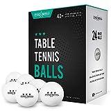 Pro Spin Lot de 24 balles de ping-pong pour intérieur et extérieur 40 balles de tennis de table...