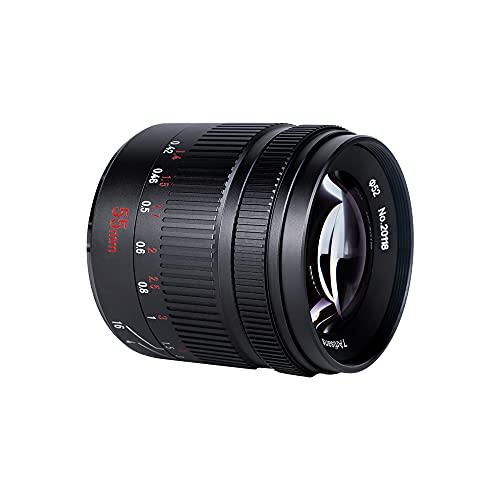 7Artisans 55mm F1.4 II Obiettivo compatto Mirrorless Manuale Focus Telecamere APS-C Obiettivo Ritratto per Sony E-Mount Telecamere come Sony NEX-6R NEX-7 A3000 A5000 A5100 A6000 A6300 A6500