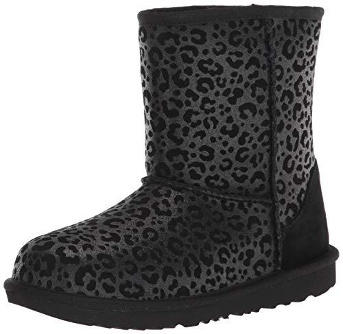 UGG Kids' Bailey Bow II Boot, Black, 4