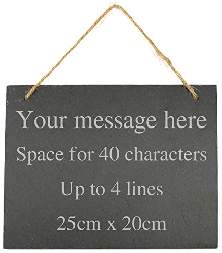 Go Find A Gift Personalised Engraved Large Hanging Slate Plaque/Sign