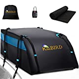KING BIRD 100% Waterproof Roof Cargo Carrier Bag with Non-Slip Mat, 20 Cubic Feet Aerodynamic Car Top Carrier Fit All Vehicles with/Without Rack