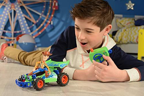 Dickie Toys 203154001 with Woody Figur, Toy Story, Spielzeugauto mit Fernsteuerung, Auto, RC Buggy, mit Turbofunktion bis max. 7,5 km/h, Maßstab: 1:24, 20 cm, ab 4 Jahren, Mehrfarbig, Scale