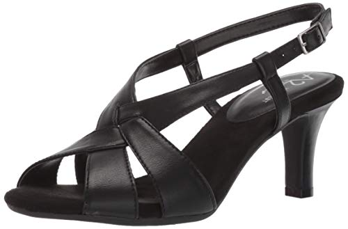 A2 by Aerosoles PASSCODE Heeled Sandal, BLACK, 8.5 M US