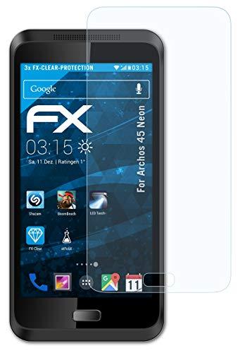 atFolix Schutzfolie kompatibel mit Archos 45 Neon Folie, ultraklare FX Bildschirmschutzfolie (3X)