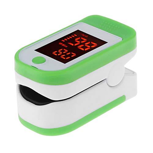 MAyouth Dito del pulsossimetro con Display a LED - Monitor della frequenza cardiaca - Misuratore di Ossigeno e impulsi del Sangue Digitale con Allarme - Casa e Sport - per Adulti, Bambini