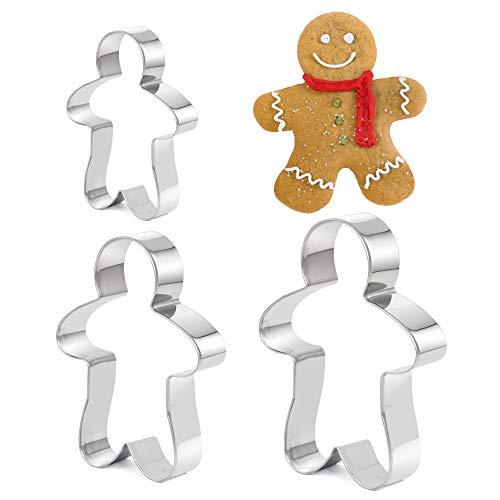 TRIXES 3 Piece Ginger Bread Man Cookie, biscuiterie, pâtisse