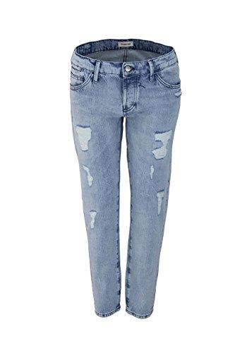 RICH&ROYAL Boyfriend Jeans Used Destroy hellblau