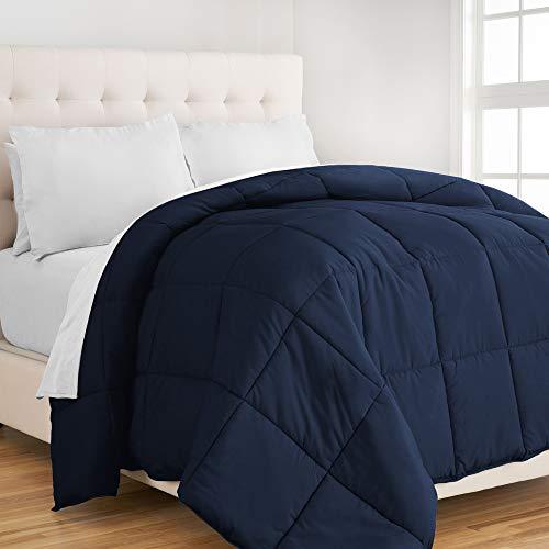 Ivy Union Juego de edredón – Fácil cuidado microfibra súper suave – King/Cal King Size cama – Hipoalergénico (King/Cal King, azul oscuro)