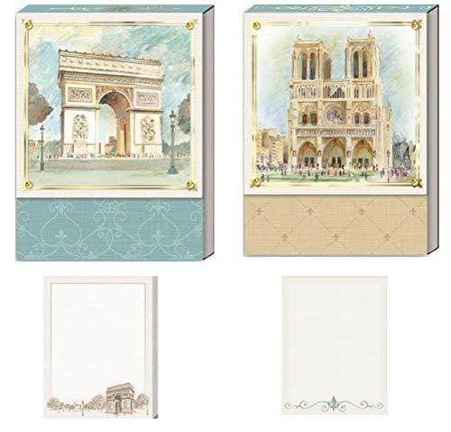 Punch Studio - Taccuini decorativi, motivo: Parigi romantica, Notre Dame e Arco di Trionfo