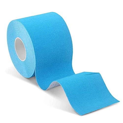 Kinesiologie Tape 5cm x5m,Physio Tape,wasserfestes Sporttape,Therapie-Tape,Elastische Bandage,Tape bietet Unterstützung für Gelenke und Muskeln,1 Rolle, Hellblau