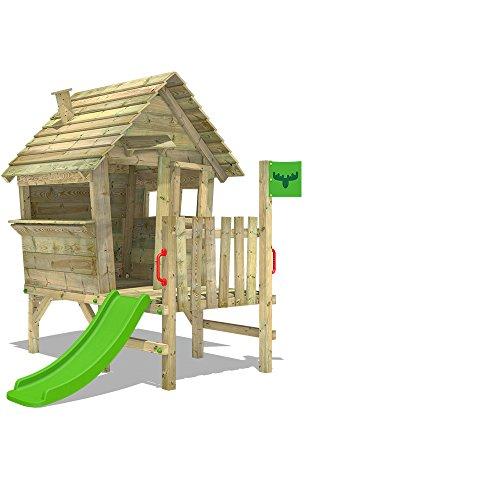 Fatmoose VanillaVilla Joy XXL Speelhuisje, tuinhuis met glijbaan en veranda