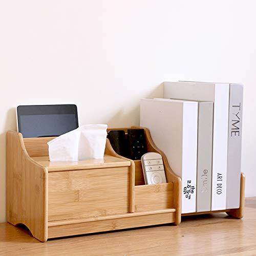 Holzsammlung Bambú Organizador de Material de Escritorio con 5 Compartimentos, organizados para Controles remotos como Control de TV guía - marrón #5