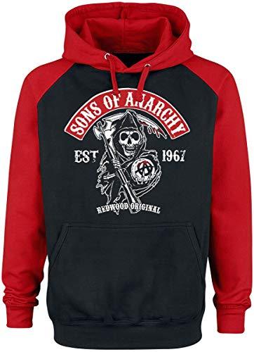 Sons of Anarchy Redwood Original Männer Kapuzenpullover schwarz/rot L