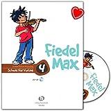 Fiedel-Max VHR3804-9783920470450 - Escuela para violín Band 4 con CD y pinza en forma de corazón de colores - Zapato de madera de Alfons Musikverlag VHR3804-9783920470450