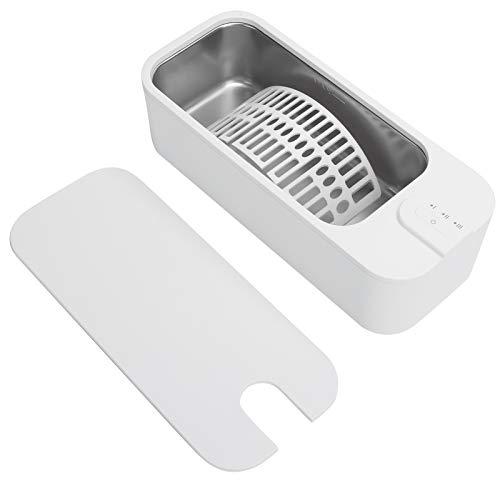 Limpiador ultrasónico para anteojos, buen efecto de limpieza Limpiador ultrasónico de acero inoxidable y material plástico para limpiar dentaduras postizas para limpiar joyas(Transl)