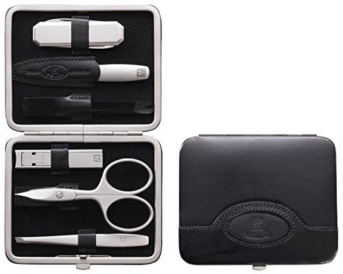 Zwilling - 98472-004-0 - Manicure Twinox - Etui à Manucure - Cuir de Boeuf avec Canif et Cure-dents - Noir