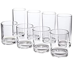 Made in USA | 12-ounce and 16-ounce maximum capacity | BPA-free plastic Perfect everyday drinking cup; great for indoor dining and outdoor parties Durable plastic material that will not shatter like glass | top rack dishwasher safe 3-3/4-inches and 6...