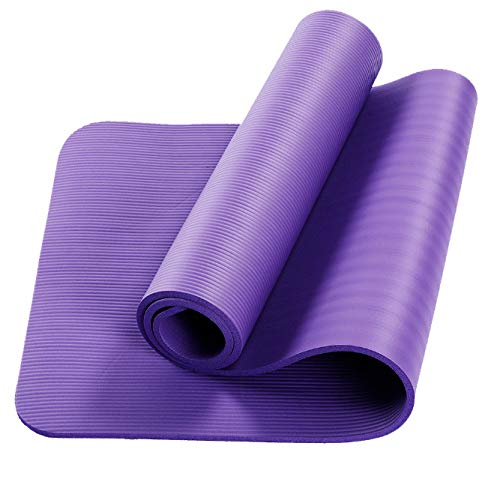 Yoga Oefening Gym Pilates Fitness Matmatten NBR Multifunctionele sport Fitness Antislip Yoga Pad Home Fitness Dikker Yogamat Tapijt met draagriem, Best for Men Dames 183cm x 61cm