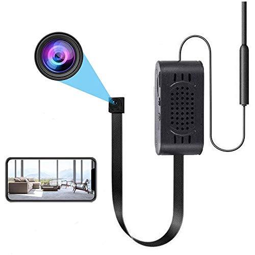 Cámara WiFi, Encubierta Cámara HD 1080P Portátil Cámara Vídeo Ultra Micro Inalámbrica con Detección de Movimiento Cámara de Seguridad Interior/Exterior