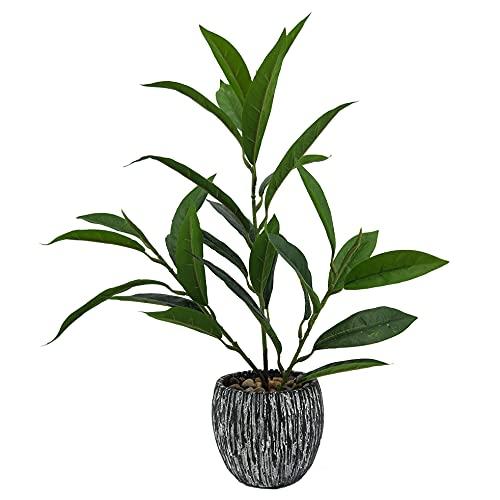 Meubletmoi - Planta artificial con maceta y tallos finos (altura +/- 38 cm)