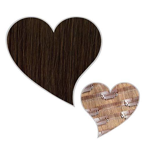 GLOBAL EXTEND® Clip in Extensions nahtlos naturbraun#05 40cm 150g Volume Seamless Clips aus 100% Echthaar Haarverlängerung nahtlose Haarclips Haarverdichtung Real Human Hair