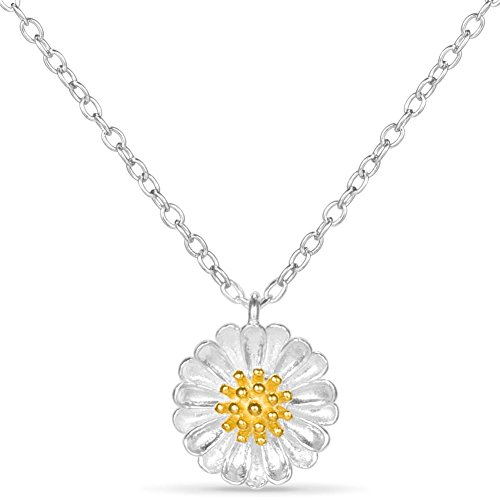 Stainless Steel Daisy Flower Necklace