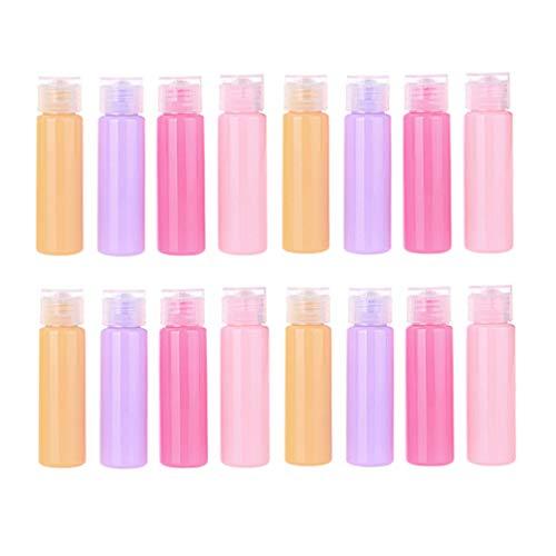 SOLUSTRE 20 Pcs en Plastique Vide Bouteille De Toilette Conteneurs Liquides pour Lotion Shampooing Crème Savon 30 ML