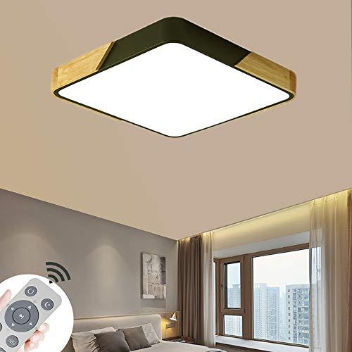 LED Lámpara de Techo 60W Interior Plafón Moderna LED de Techo Rectangular De Dormitorio Cocina Sala de estar Comedor Balcón Pasillo (Regulable 3000-6500K)