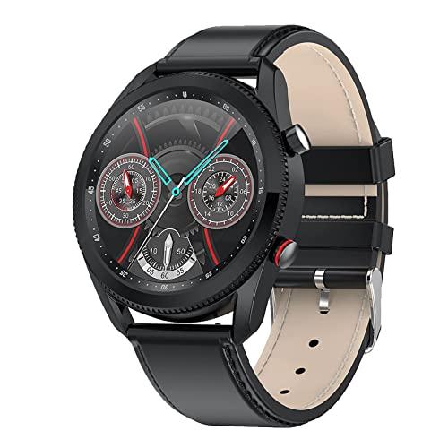 ZGZYL L61 Bluetooth Call Smart Watch con Presión Arterial Y Monitoreo De Ritmo Cardíaco Reloj Reloj De Fitness para Hombre Reloj De Cronómetro Pedómetro Reloj Deportivo,C