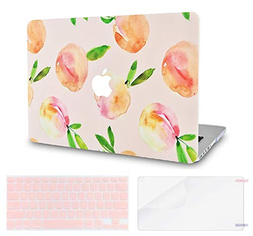 LuvCase 3 in 1 LaptopCase for MacBook Air 13 Inch(Touch ID)(2020) A2337 M1/A2179 Retina Display HardShellCover, Keyboard Cover & Screen Protector (Orange)
