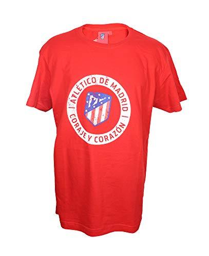 Atletico de Madrid Camiseta Hombre Rojo Vintage Format