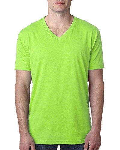 Next Level Mens Premium CVC V-Neck Tee (6240) neon HTHR Green m