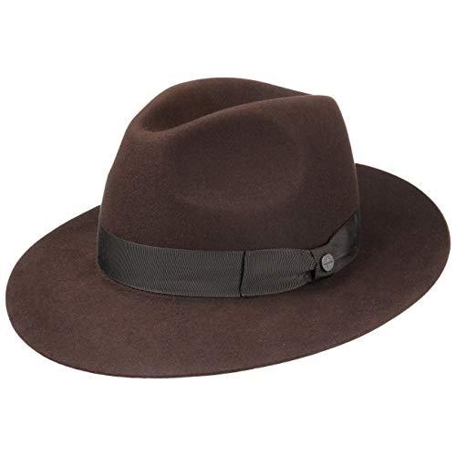 Lierys Bogart Haarvilthoed Heren - haarvilthoeden vilthoed maffia hoed met ripsband voor Zomer/Winter