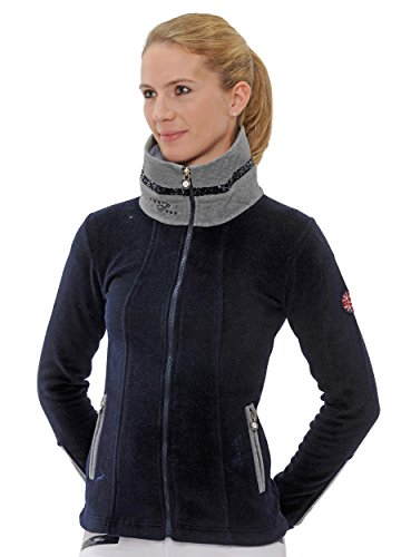 SPOOKS Fleecejacke Lexi Fleece Sequin Navy/Grey Größe XXL