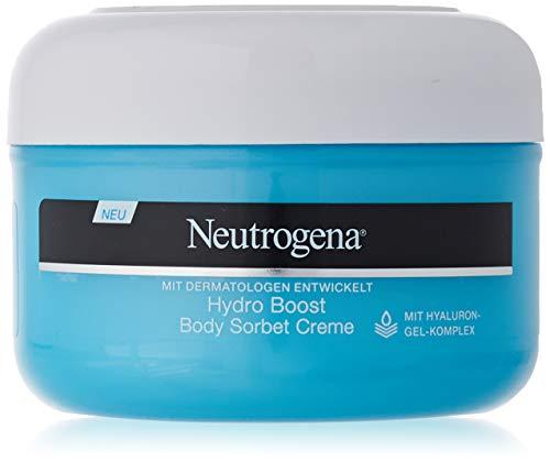 Neutrogena Hydro Boost Body Sorbet Creme - Erfrischende, ultra-leichte und samtige Body Creme mit Hyaluron - 1 x 200ml