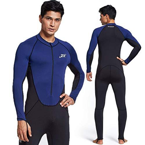 ZIONOR Ganzkörper Neoprenanzug Sport Rash Guard Taucheranzug für Schwimmen Schnorcheln Tauchen Surfen mit UV-Sonnenschutz Langarm für Herren